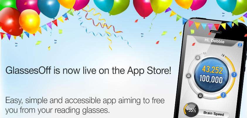 FB celebration 843x4032 GlassesOff is live on the Appstore